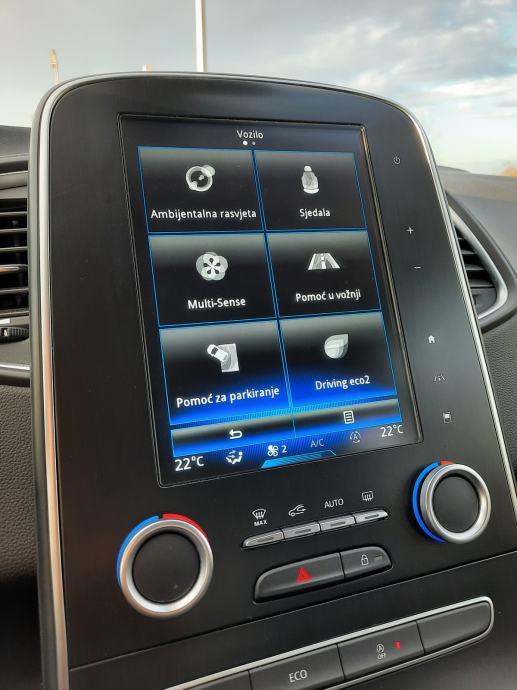 Renault Scenic dCi 110 ks, Perla boja, Virtual sat, Aktivni Radar, Alu 20″, 2 seta guma, Garancija